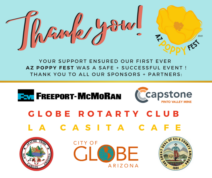 THANK YOU FOR MAKING THE AZ POPPY FEST A SUCCESS