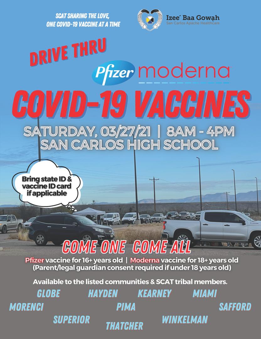 COVID-19 DRIVE THRU VACCINATIONS