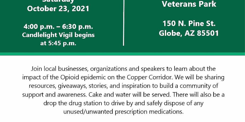 Opioid Awareness  and Vigil that Horizon Health and Wellness in collaboration with the Sara K Foundation