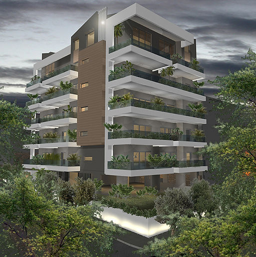 Apartment complex in Alimos Greece with a lot of greenery