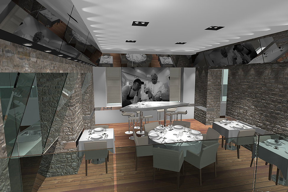 Visualisation of the design for Botrini's restaurants