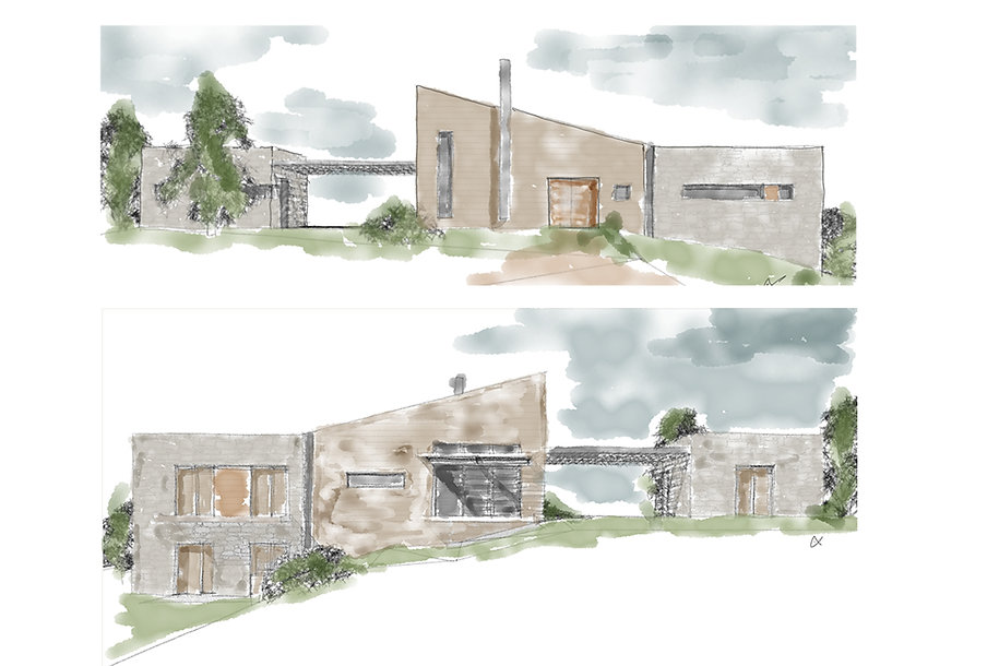 Sketch design development of a home