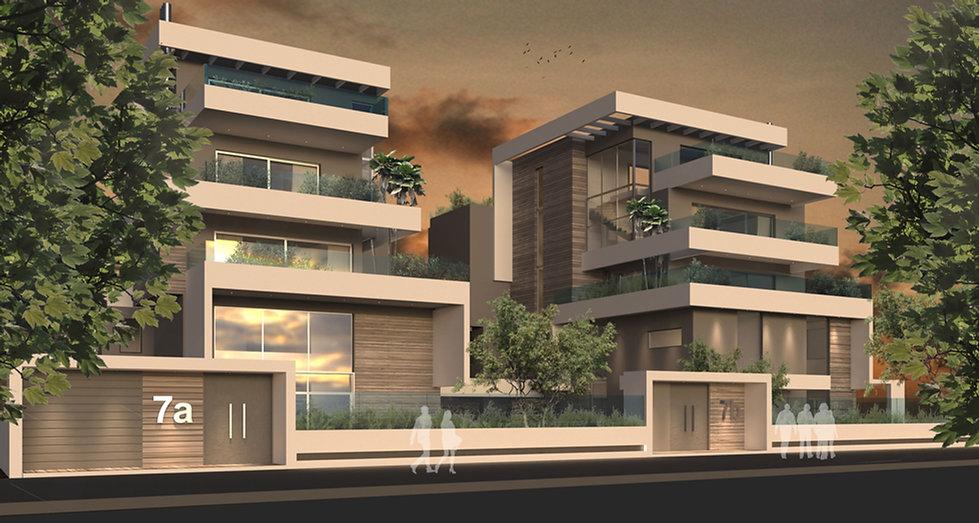 Design development of two apartment complexes in Kefalari.