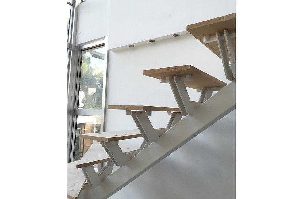 Modern architecture, interior stair detailing