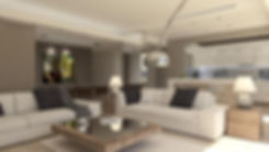 Interior living room architectural proposal.