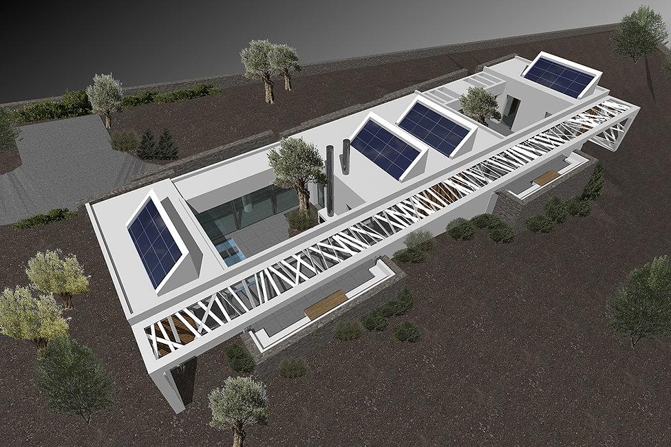 Εξοχικη κατοικια με φωτοβολταικα