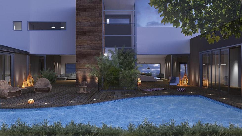 Αρχιτεκτονικη προταση για συγκροτημα κατοικιων με πισινα στο Πανοραμα της Βουλας.