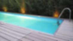 Pool and timber deck
