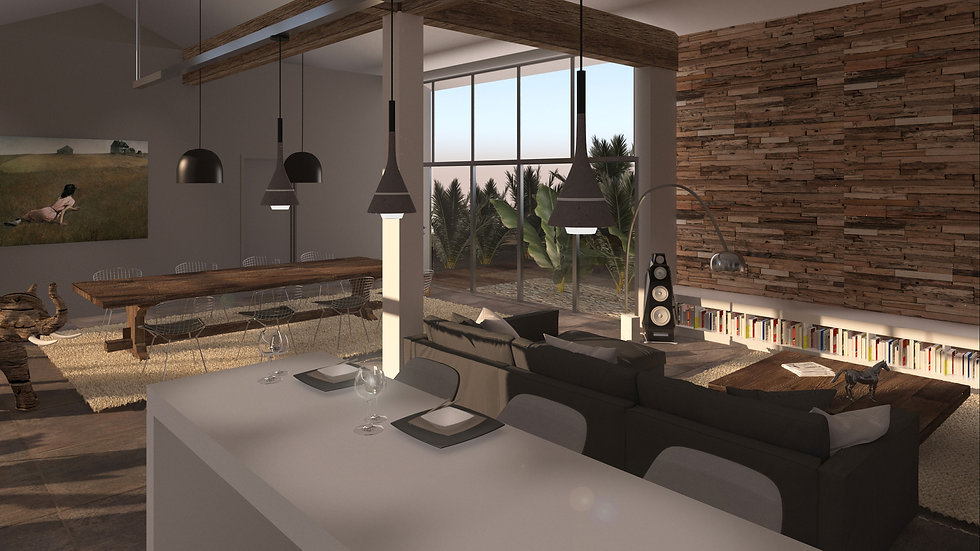 Interior render of a flat conversion proposal.