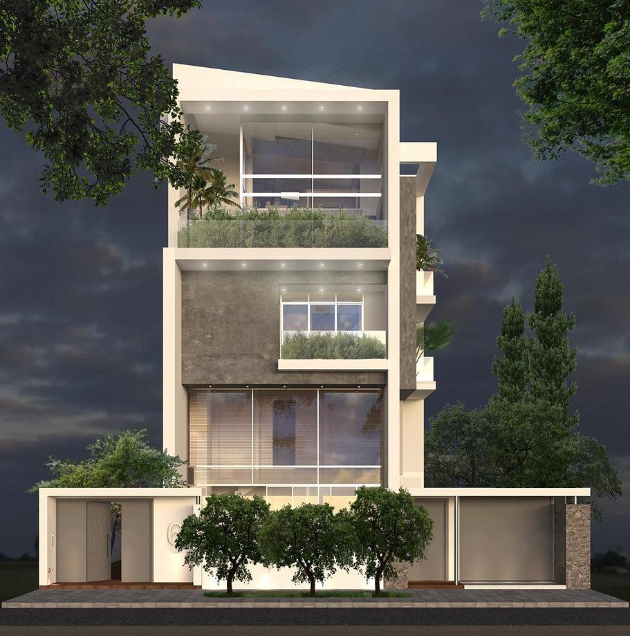 Twin residences proposal in Glyfada Greece