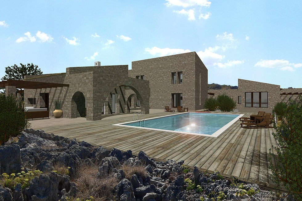 Summer residence proposal featuring a pool