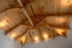 Exposed timber roof structure