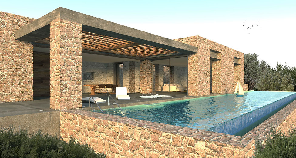 Private residence with pool design proposal in Nafplio.