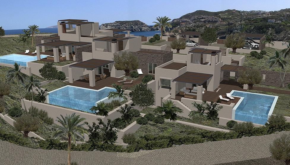Holiday villas complex in Crete