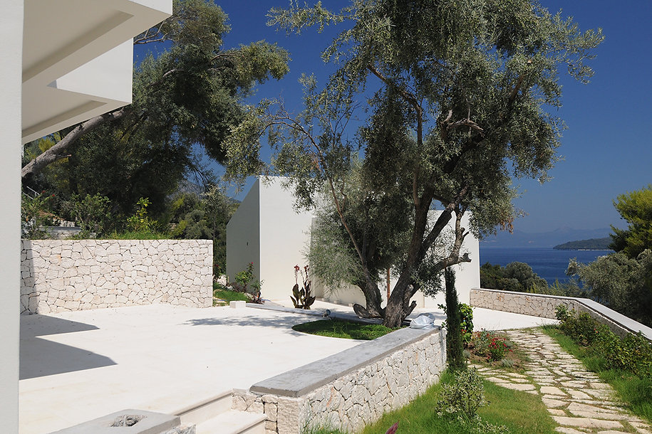 Traditional Greek construction of a summer residence