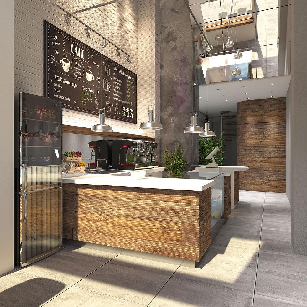 Coffee shop design proposal in Piraeus.