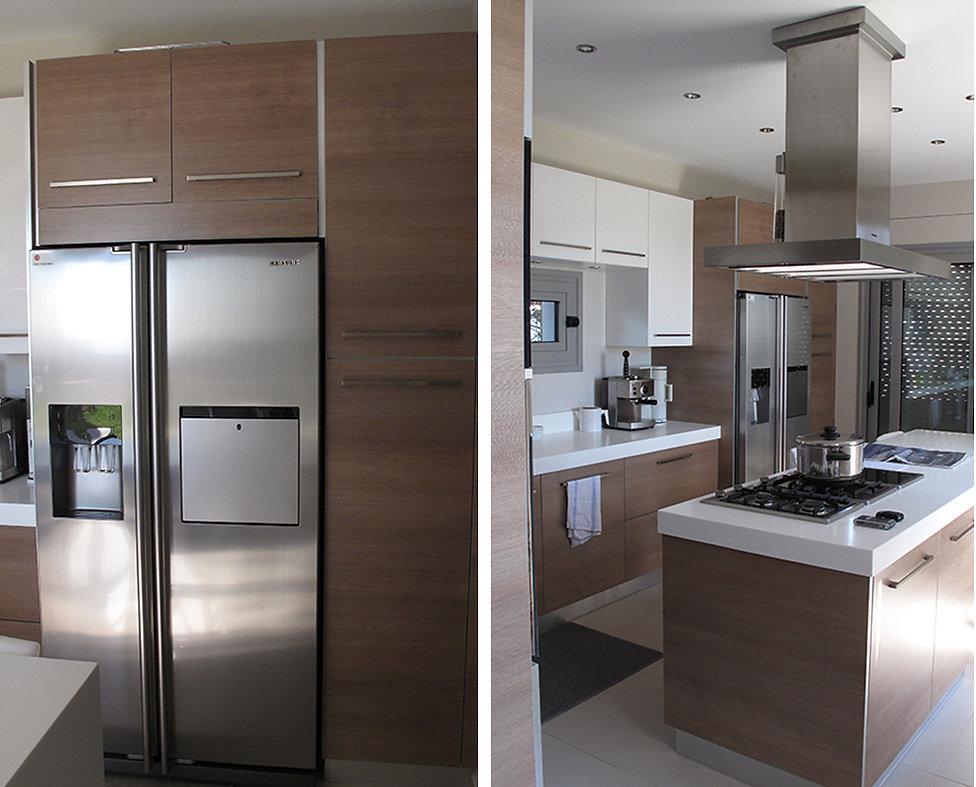 Σχεδιασμος κουζινας με ξυλινη επενδυση