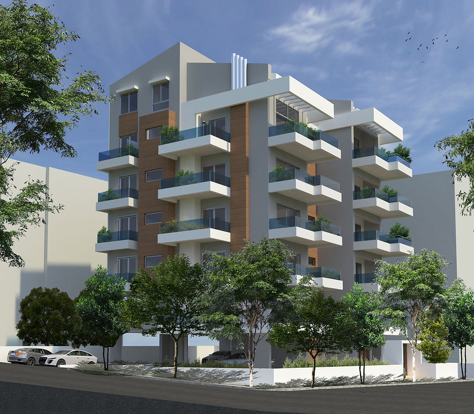 Five storey apartment complex design in Alimos.