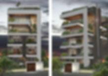 Αρχιτεκτονικη προταση πολυκατοικιας στη Γλυφαδα