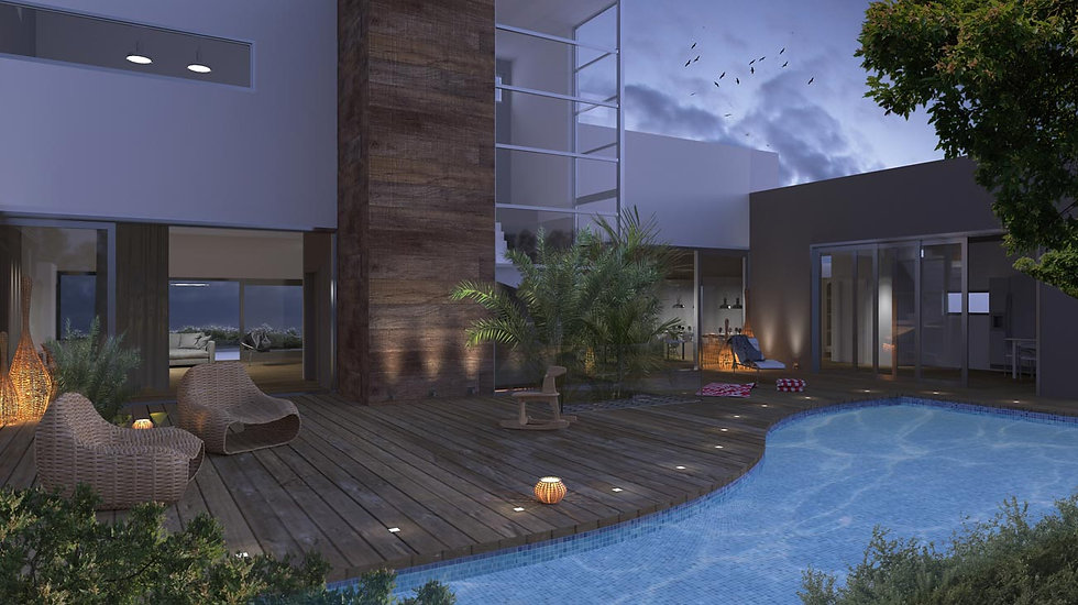 Proposal for a housing complex with a pool in Voula, Greece.