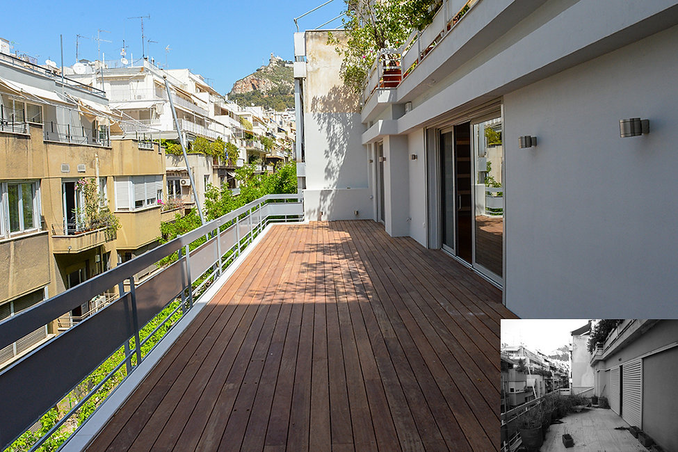 Flat remodelling in Kolonaki before and after