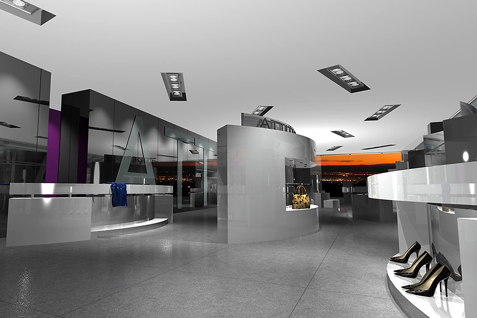 Interior of a shopping store proposal
