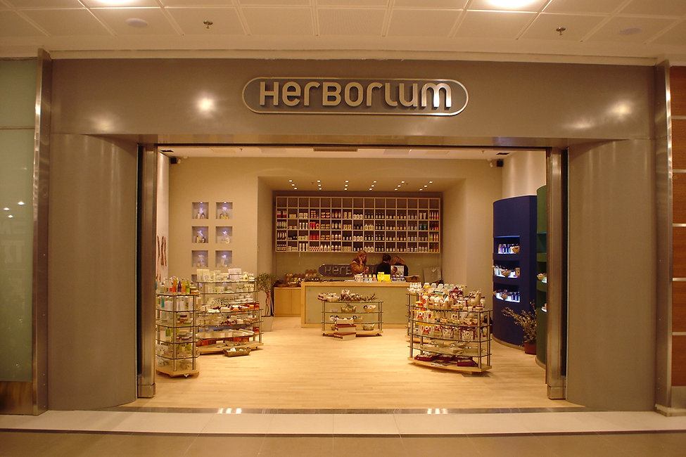 Herbosium store design in The Mall Athens