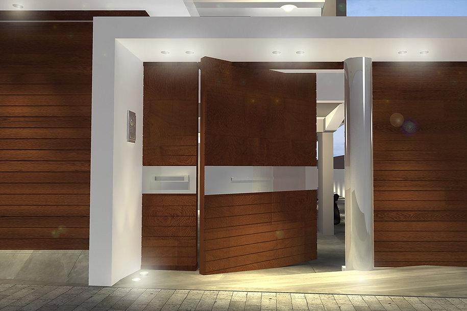 Pivot door design