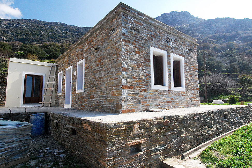 Stone built island home in Andros, Cyclades