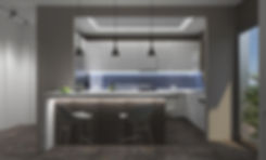 Εσωτερικο προοπτικο διαμορφωσης κουζινας.