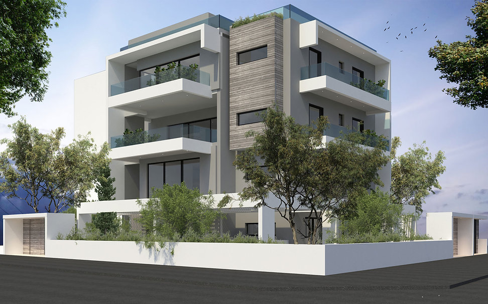 Proposal for a three storey apartment building in Glyfada
