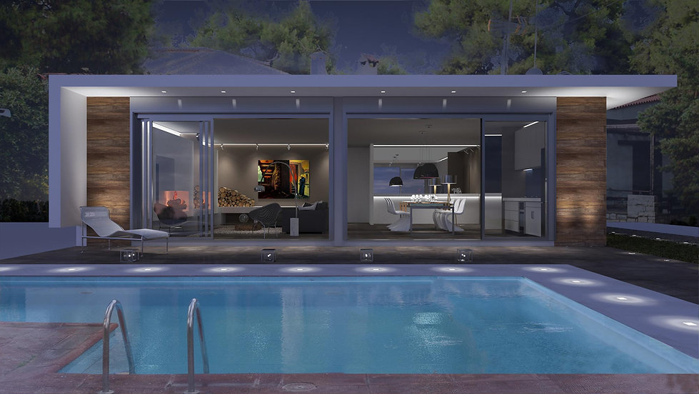 Vray exterior remodelling proposal with a pool.