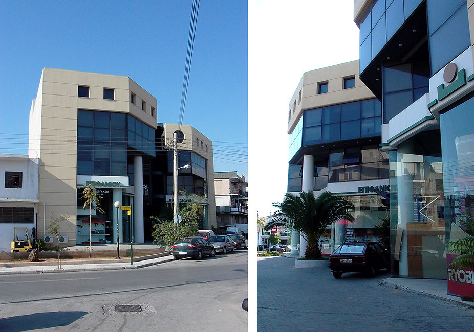 Commercial building in Moschato side views