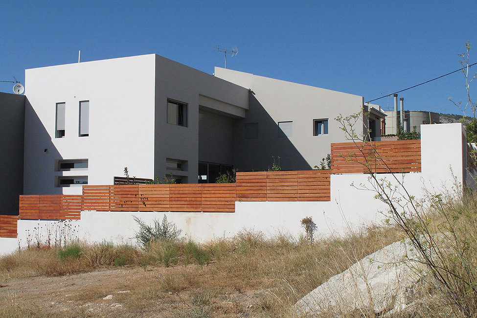 Private residence with fence