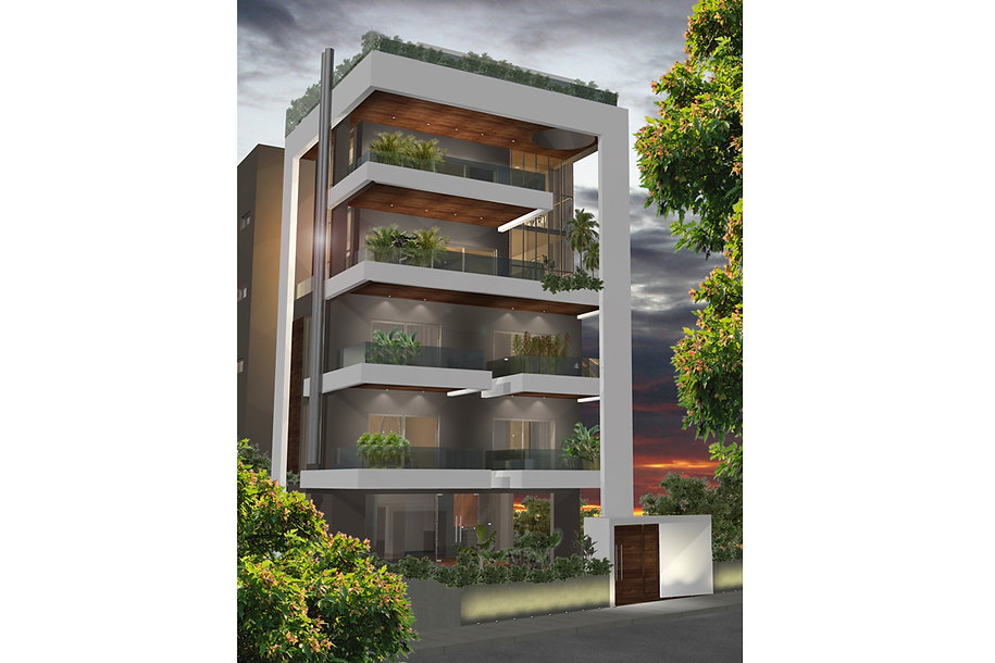 Housing complex proposal with balconies in Glyfada, Greece