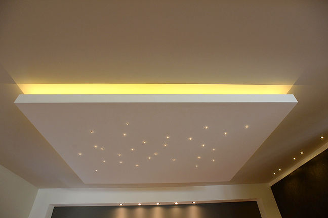 Ceiling spot lights resembling stars