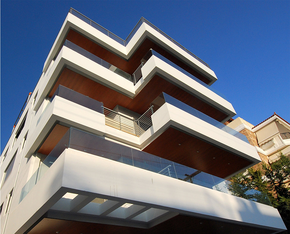 Staggered balconies