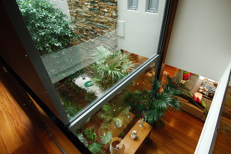 Private residence with internal garden