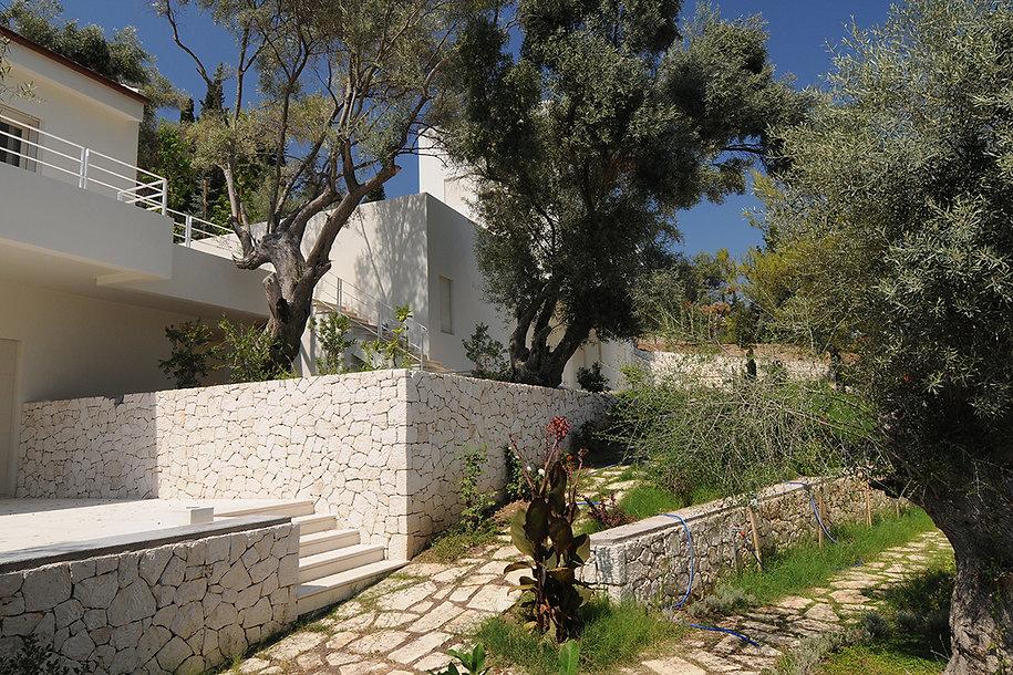 Lovely garden in a summer house in Greece