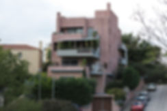 Pink residential complex in Marousi