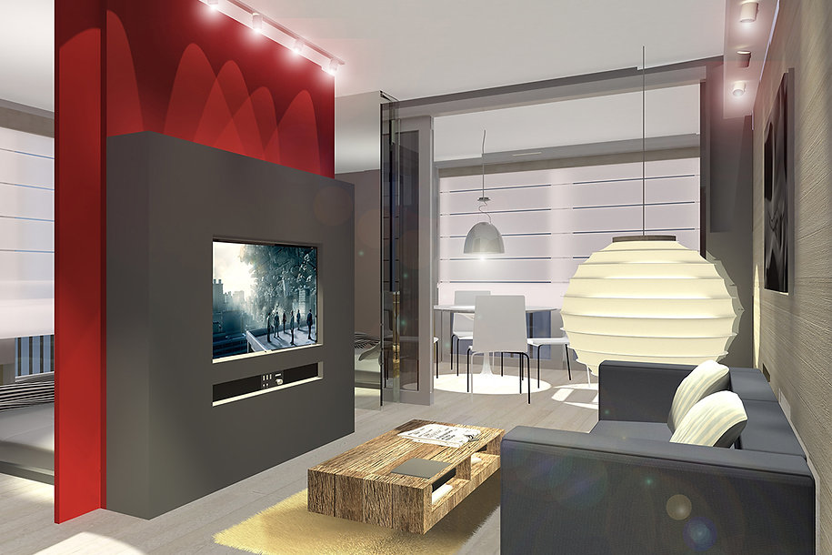 Render ofa flat renovation proposal