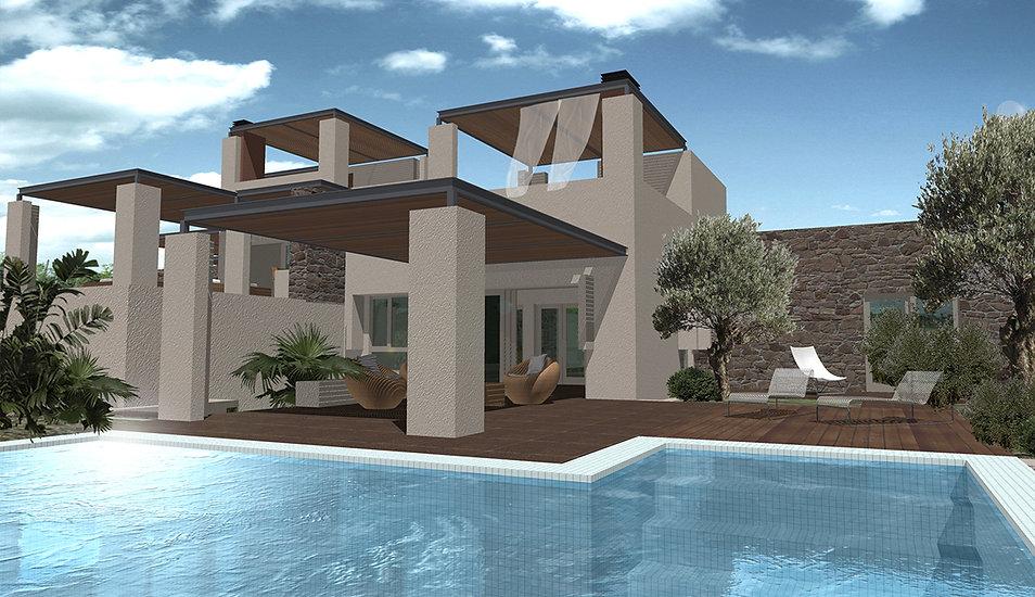 Luxurious seaside villas in Greece