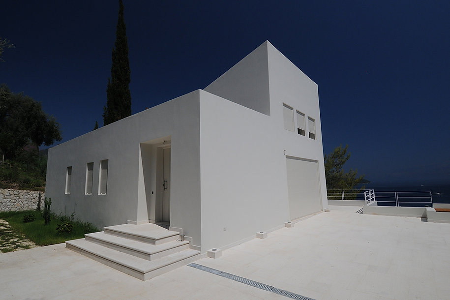 Minimal design of a traditional house in Greece