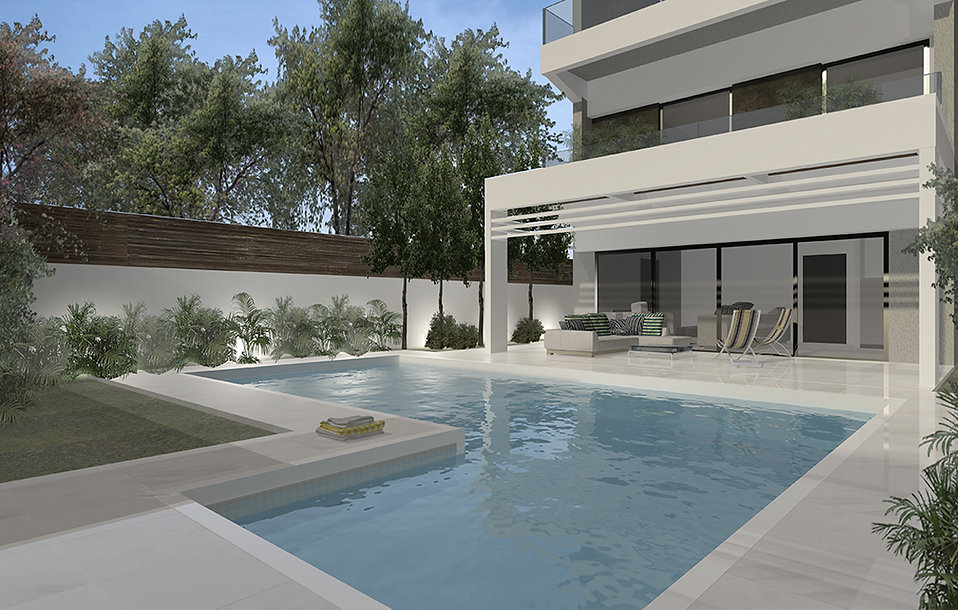 House remodelling proposalwith a pool