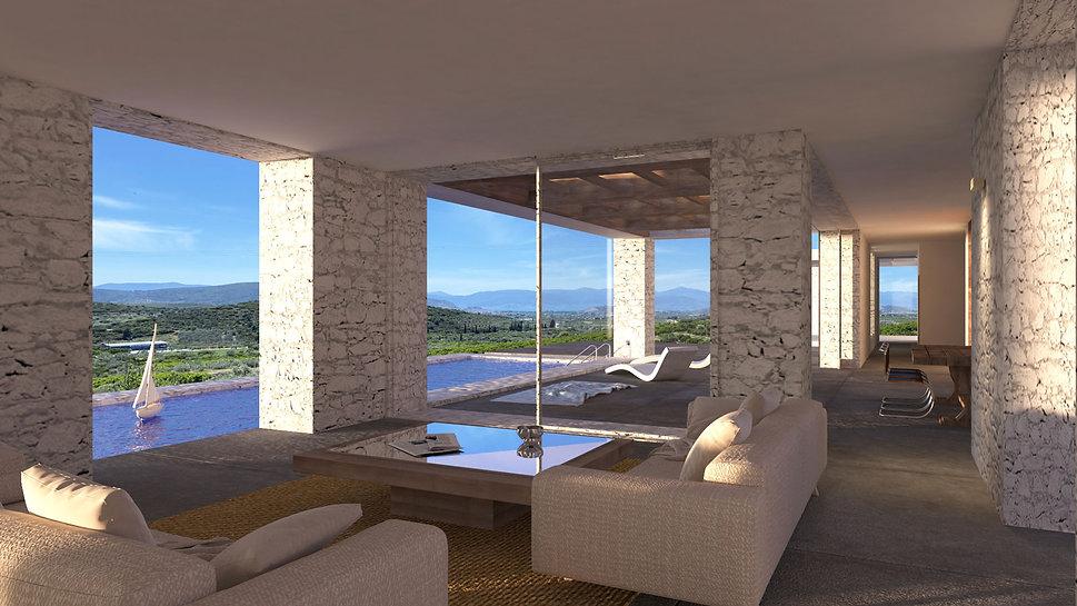 Interior design of s private residence in Nafplio.