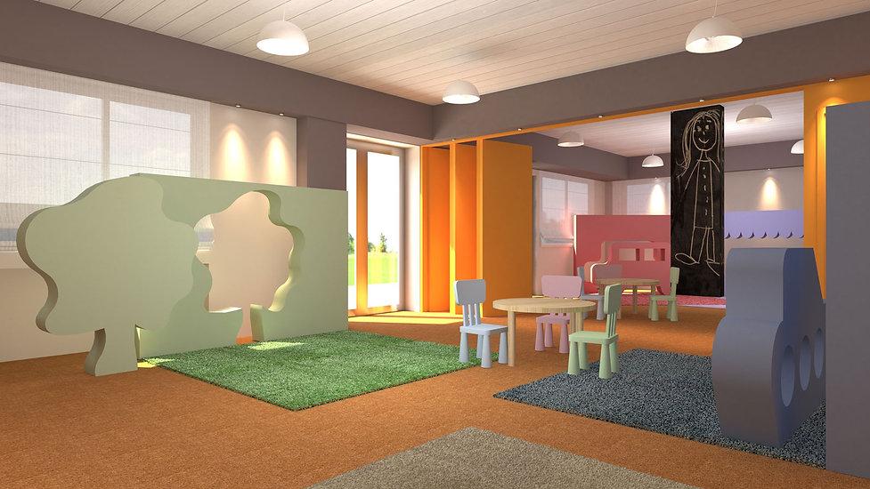Εσωτερικη διαμορφωση παιδικου σταθμου - νηπιαγωγειου στην Κηφισια.