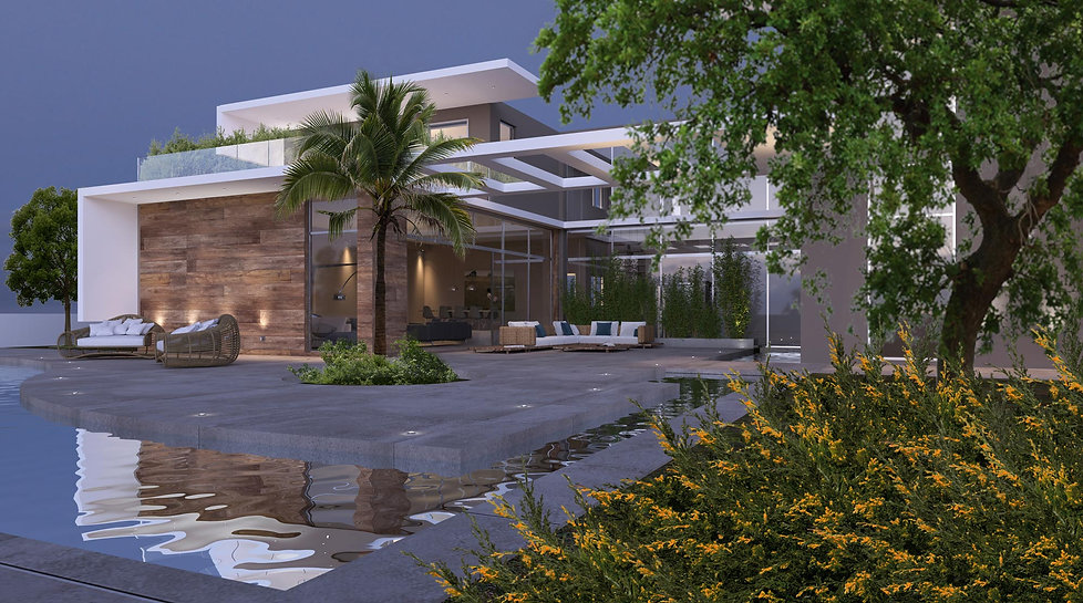 Private residence proposal with an outdoor pool.