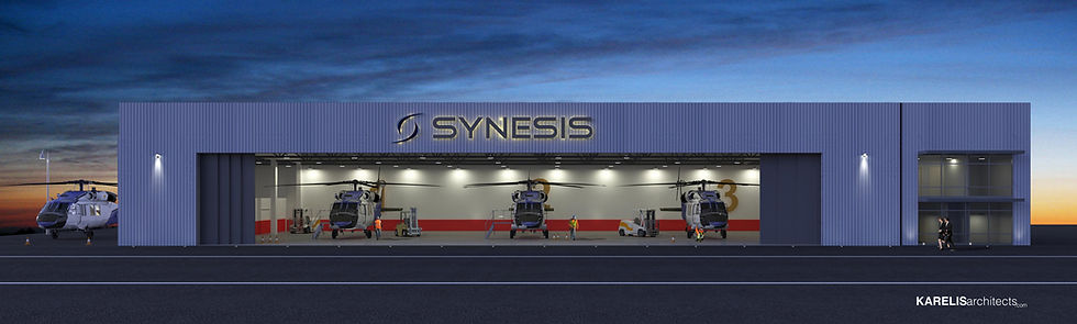Synesis Aviation Hangar in Cyprus