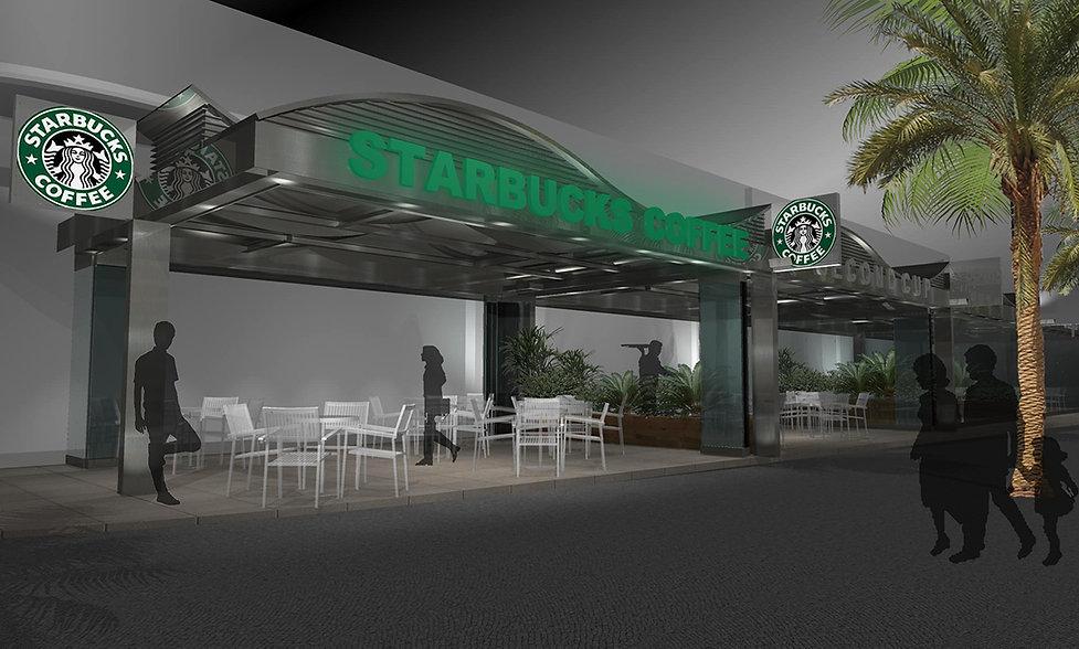 Starbucks canopy design in Beirut