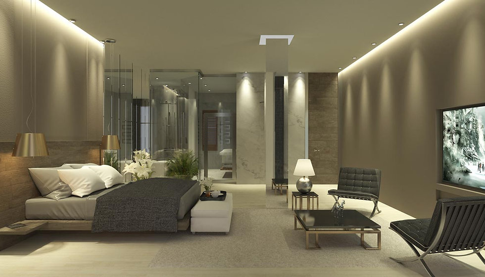Luxury suites design proposal in the centre of Athens.